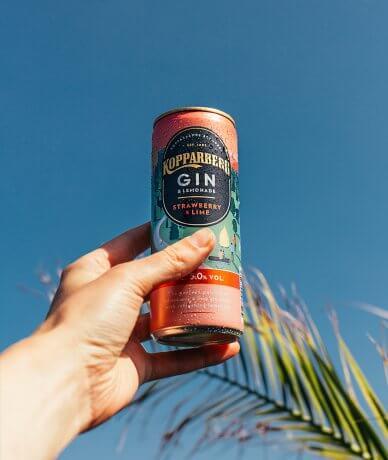 Kopparberg Gin&Lemonade Strawberry&Lime Slim can 25CL