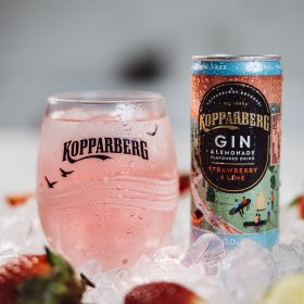 Kopparberg Gin&Lemonade Strawberry&Lime Alcohol-Free burk 25CL