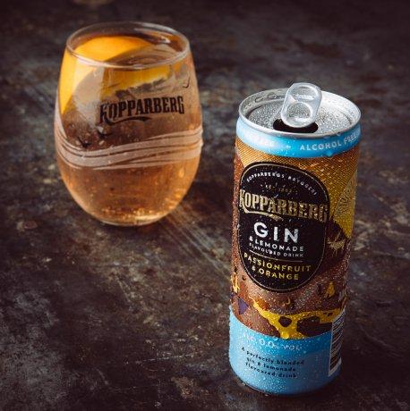 Kopparberg Gin&Lemonade Passionfruit&Orange Alcohol-Free burk 25CL